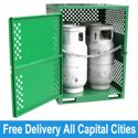 Picture of Gas Cylinder Storage cage for 4 x Type T Forklift Cylinders