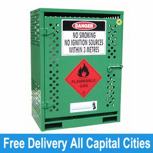 Picture of Gas Cylinder Storage cage for 2 x Type T Forklift Cylinders