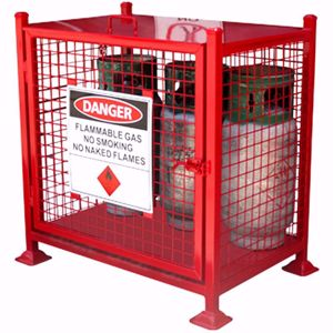 Picture of Gas Cage to hold 12 x forklift Cylinders